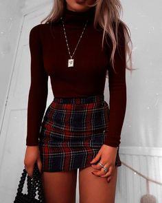 48 Cool Back to School Outfits Ideas for the Flawless Look cute casual outfits - Casual Outfit Teen Fashion Outfits, Look Fashion, Womens Fashion, Fashion Clothes, Fashion Ideas, Autumn Fashion, Skirt Fashion, Fashion Belts, Style Clothes