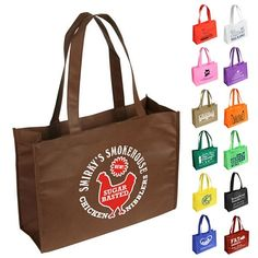 Promotional Tropic Breeze NonWoven Tote Bag Item #WBA-TB09 (Min Qty: 150). Customize your Promotional Polypropylene Tote Bags with your company logo and with no setup fees.