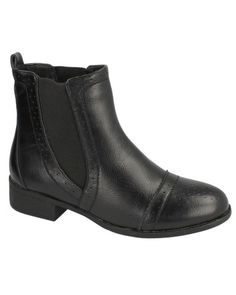 Vegan Amy Punched Trim Chelsea Style Boots