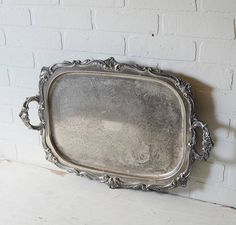 Large Silver Tray, L