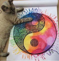 Zentangle Art Dibujos Fondos Ideas For 2019 Doodle Art Drawing, Zentangle Drawings, Mandala Drawing, Art Drawings Sketches, Painting & Drawing, Zentangles, Mandala Artwork, Mandala Painting, Mandala Nature