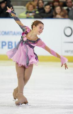 Adelina Sotnikova, -Pink Figure Skating / Ice Skating dress inspiration for Sk8 Gr8 Designs.