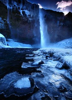 The waterfall at Seljalandsfoss, Iceland.  Picture: JAMES APPLETON/BARCROFT