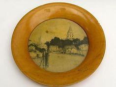 Antique Primitive Annapolis MD State Capitol Wood Plate Port 1900's Souvenir   eBay