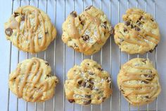 Copycat Mrs. Field's Sea Salt and Caramel Chocolate Chip Cookies