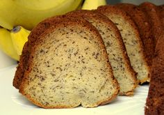Ultra-Moist Banana Bundt Cake made with Greek Yogurt