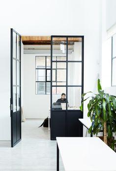 Office Tour: Inside Sarah & Sebastian's Minimalist Sydney Studio via @MyDomaineAU