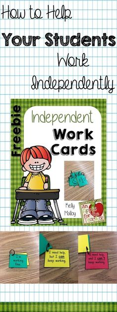Independent Work Cards to help your students work independently. Elementary Teacher, Upper Elementary, Elementary Schools, Classroom Teacher, Classroom Ideas, Future Classroom, Classroom Inspiration, Google Classroom, Classroom Organization