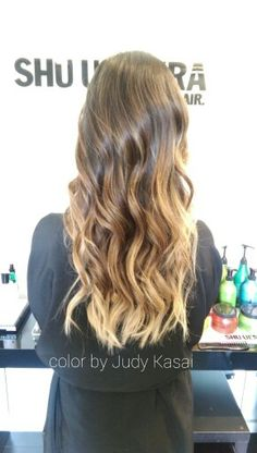 Subtle ombre on asian hair. Asian blonde by Judy Kasai