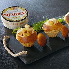 Brioche garnie Camembert Pomme et Caramel