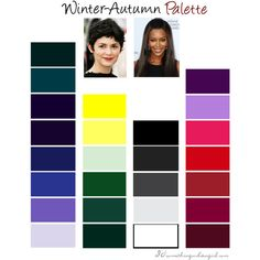 """""""Winter-Autumn (Deep Winter) Color Palette"""" by thirtysomethingurbangirl on Polyvore"""