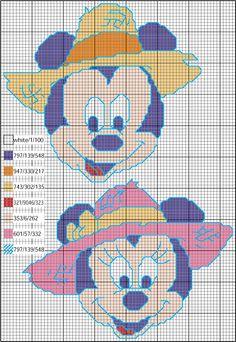 Mickey and minie