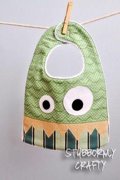 Dragon Baby Bib, Handmade by Lisa. via Etsy. Such a fun idea for baby shower gift.