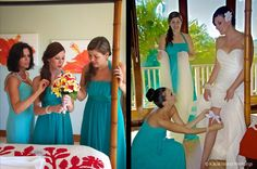 """Getting Ready"" photos of the bride in Kauai."