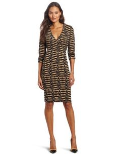 Jones New York Women`s Bloussant Sleeve Printed Dress $89.00