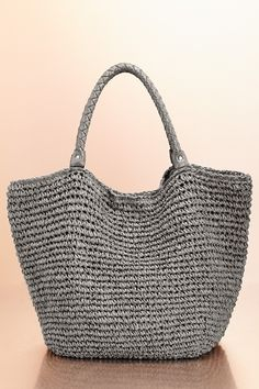 Straw beach tote from Boston Proper on shop.CatalogSpree.com, your personal digital mall.