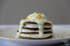 Lemon Chiffon Pancakes are a healthy twist off of 2 ingredient pancakes
