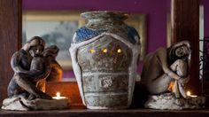 Three Graces Oil Burner Tea Light  tea light hand by Sherriffclay