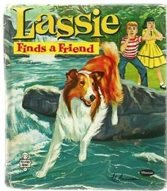 I loved this story book.  A little girl comes to visit Timmy and has a beautiful doll with her.  They make a raft and float the doll into the creek and the string breaks, so Lassie has to save her.  I've always been intrigued by dolls.