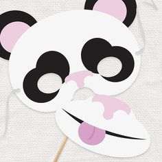 DIY party costume mask  panda bear  printable file by iDIYjr, $5.00