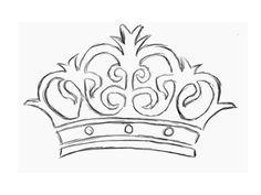 King Crown Tattoo Sketch