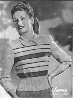 FREE 1940's Knitting -  Hand Knitteds by Licoln No.671