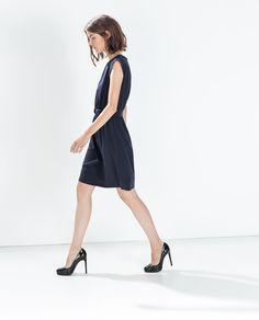 ZARA - FLOWY DRESS WITH BUCKLED BELT -  Ref. 2753/234 35.99 GBP
