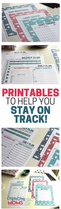 Stay focused on your goals and take charge of your time with beautiful printables. Be motivated to stick with your plans for achieving your dreams!