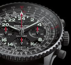 NAVITIMER COSMONAUTE - 24 hrs dial in black steel, límited edition, only 1000 watches manufactured.