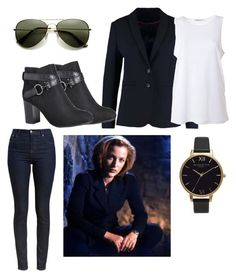 """""""DANA SCULLY"""" by elysse-florence-bennett on Polyvore featuring Barbour, Benetton, Avenue, T By Alexander Wang and Olivia Burton"""