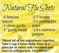 Natural Flu Shot.....!