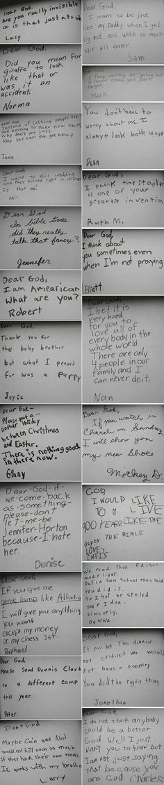 kids' letters to God... HILARIOUS!!