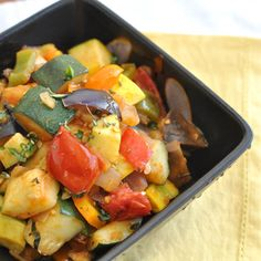 Midsummer's Garden Vegetable Ratatouille Vegetable Ratatouille, Ratatouille Recipe, My Recipes, Healthy Recipes, Healthy Food, Veggie Dishes, Fresh Herbs, The Fresh, Food To Make