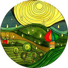 Une inspiration Mandala de Hundertwasser.. a vous de faire le votre, belle creativité Helene EM