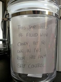 the same applies to the candy jar in the living room