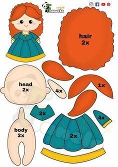 Felt Dolls, Paper Dolls, Disney Diy Crafts, Primitive Doll Patterns, Felt Crafts Patterns, Bear Felt, Felt Diy, Felt Christmas, Felt Ornaments