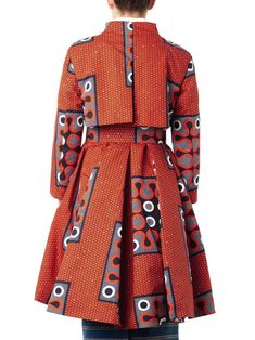 Stella Jean Clara tribal-print A-line trench coat African Inspired Fashion, African Print Fashion, Africa Fashion, Ethnic Fashion, Fashion Prints, Fashion Styles, African Print Dresses, African Fashion Dresses, African Dress