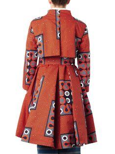 Stella Jean Clara tribal-print A-line trench coat
