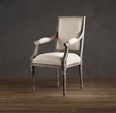 Vintage French Square Upholstered Armchair - host and hostess chair - I will re-upholster the front and back of chair in a silk fabric - $249
