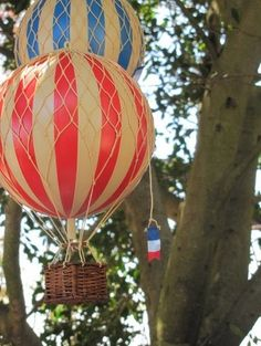 "Hot Air Balloon Decor ""Fly Away With Me"" - contemporary - artwork - 100 Layer Cake"