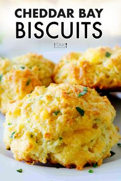 Make hot, buttery, garlicky Red Lobster Cheddar Bay Biscuits at home! Studded with melty Cheddar, packed with flavor, these copycat Red Lobster Biscuits are identical to the restaurant's coveted biscuit recipe. Easy to make and coming together (start-to-finish) in less than 30 minutes, this side dish is worth staying in for! New Recipes, Baking Recipes, Dinner Recipes, Favorite Recipes, Kitchen Recipes, Recipes For Biscuits, Easy Biscuits Recipe, Recipes With Bread, Recipes With Biscuit Dough