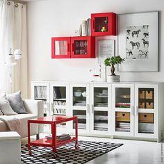"""""""Für ein bisschen mehr Leidenschaft in eurem #Wohnzimmer. #isawred #Sofa #Couchtisch #Wandregal #BRIMNES #KLIPPAN #IKEAPS #meinIKEA"""""""