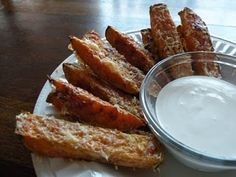 Parmesan Crusted Sweet Potato Fries with Light Garlic Aioli