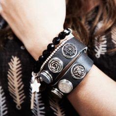 Noosa Amsterdam, time to get some new chunks for my bracelet. Cuff Jewelry, Cuff Bracelets, Leather Bracelets, Leather Jewelry, Ginger Snaps Jewelry, Tough Girl, Country Girls, Fashion Jewelry, Pandora