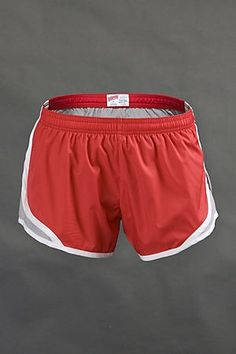 Red and silver Shorty Soffe shorts <3 www.soffe.com