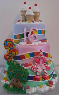 Candyland cake! Already planning my little girls first birthday cake!