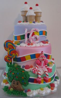 Candyland cake! Already planning my little girls first birthday cake!