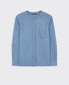 Loose blouse in Tencel denim
