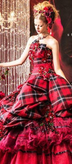 Amazing Stella de Libero Wedding Dresses 2014 2015 - Be Modish Tartan Wedding Dress, Tartan Dress, Wedding Dresses 2014, Tartan Plaid, Wedding Gowns, Flannel Dress, Mode Tartan, Tartan Christmas, Tartan Fashion