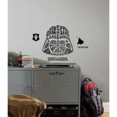 Roommates Star Wars Typographic Darth Vader Trooper Giant Wall Decal
